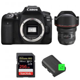 Canon EOS 90D + EF 11-24mm f/4L USM + SanDisk 256GB Extreme PRO UHS-I SDXC 170 MB/s + 2 LP-E6N