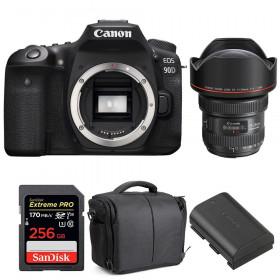Canon EOS 90D + EF 11-24mm f/4L USM + SanDisk 256GB UHS-I SDXC 170 MB/s + LP-E6N + Bolsa  2 años de garantía