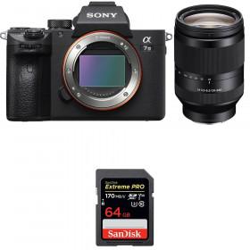 Sony Alpha 7 III + FE 24-240 mm f/3.5-6.3 OSS + SanDisk 64GB Extreme PRO UHS-I SDXC 170 MB/s | 2 años de garantía