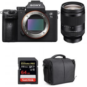 Sony Alpha 7 III + FE 24-240 mm f/3.5-6.3 OSS + SanDisk 64GB Extreme PRO UHS-I SDXC 170 MB/s + Bolsa | 2 años de garantía