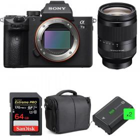 Sony Alpha 7 III + FE 24-240 mm f/3.5-6.3 OSS + SanDisk 64GB UHS-I SDXC 170 MB/s + 2 NP-FZ100 + Bolsa| 2 años de garantía
