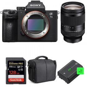 Sony Alpha 7 III + FE 24-240 mm f/3.5-6.3 OSS + SanDisk 128GB UHS-I SDXC 170 MB/s + 2 NP-FZ100 + Bolsa| 2 años de garantía