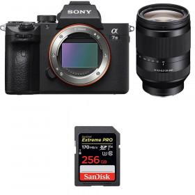 Sony Alpha 7 III + FE 24-240 mm f/3.5-6.3 OSS + SanDisk 256GB Extreme PRO UHS-I SDXC 170 MB/s | 2 años de garantía