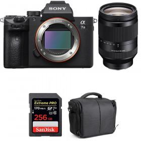 Sony Alpha 7 III + FE 24-240 mm f/3.5-6.3 OSS + SanDisk 256GB Extreme PRO UHS-I SDXC 170 MB/s + Bolsa | 2 años de garantía