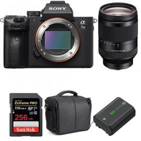Sony Alpha 7 III + FE 24-240 mm f/3.5-6.3 OSS + SanDisk 256GB UHS-I SDXC 170 MB/s + NP-FZ100 + Bolsa| 2 años de garantía