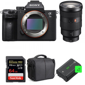 Sony Alpha 7 III + FE 24-70 mm f/2.8 GM + SanDisk 64GB Extreme PRO UHS-I SDXC 170 MB/s + 2 NP-FZ100 + Bolsa