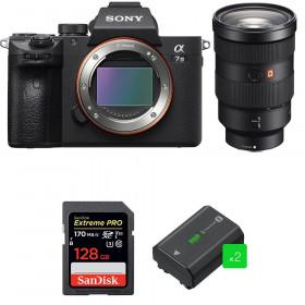 Sony Alpha 7 III + FE 24-70 mm f/2.8 GM + SanDisk 128GB Extreme PRO UHS-I SDXC 170 MB/s + 2 NP-FZ100