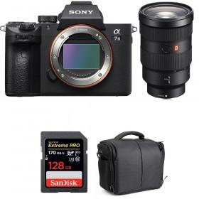 Sony Alpha 7 III + FE 24-70 mm f/2.8 GM + SanDisk 128GB Extreme PRO UHS-I SDXC 170 MB/s + Bag | 2 Years Warranty