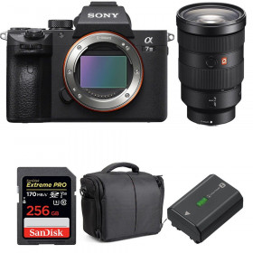 Sony Alpha 7 III + FE 24-70 mm f/2.8 GM + SanDisk 256GB Extreme PRO UHS-I SDXC 170 MB/s + NP-FZ100 + Bolsa