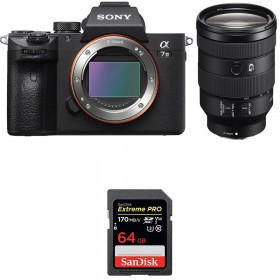 Sony Alpha 7 III + FE 24-105 mm f/4 G OSS + SanDisk 64GB Extreme PRO UHS-I SDXC 170 MB/s | 2 Years Warranty