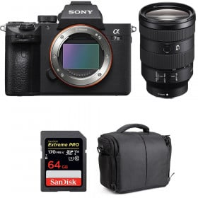 Sony Alpha 7 III + FE 24-105 mm f/4 G OSS + SanDisk 64GB Extreme PRO UHS-I SDXC 170 MB/s + Bolsa