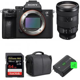 Sony Alpha 7 III + FE 24-105 mm f/4 G OSS + SanDisk 64GB UHS-I SDXC 170 MB/s + 2 NP-FZ100 + Bolsa