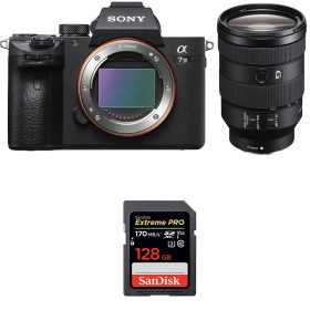 Sony Alpha 7 III + FE 24-105 mm f/4 G OSS + SanDisk 128GB Extreme PRO UHS-I SDXC 170 MB/s | 2 años de garantía