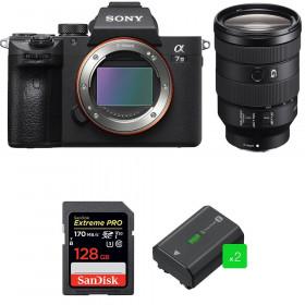 Sony Alpha 7 III + FE 24-105 mm f/4 G OSS + SanDisk 128GB Extreme PRO UHS-I SDXC 170 MB/s + 2 NP-FZ100
