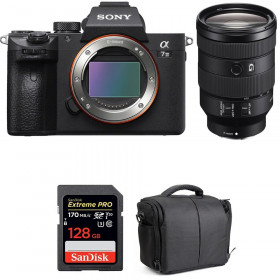 Sony Alpha 7 III + FE 24-105 mm f/4 G OSS + SanDisk 128GB Extreme PRO UHS-I SDXC 170 MB/s + Bag | 2 Years Warranty