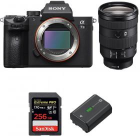 Sony Alpha 7 III + FE 24-105 mm f/4 G OSS + SanDisk 256GB Extreme PRO UHS-I SDXC 170 MB/s + NP-FZ100