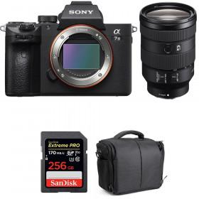 Sony Alpha 7 III + FE 24-105 mm f/4 G OSS + SanDisk 256GB Extreme PRO UHS-I SDXC 170 MB/s + Bag | 2 Years Warranty