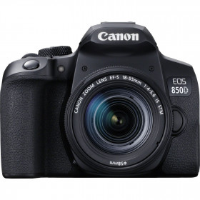 Canon EOS 850D + EF-S 18-55mm f/4-5.6 IS STM | 2 años de garantía