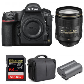 Nikon D850 + 24-120mm F4 G ED VR + SanDisk 64GB Extreme PRO UHS-II SDXC 300MB/s + EN-EL15b + Bolsa | 2 años de garantía
