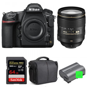 Nikon D850 + 24-120mm F4 G ED VR + SanDisk 64GB Extreme PRO UHS-II SDXC 300MB/s + 2 EN-EL15b + Bolsa | 2 años de garantía