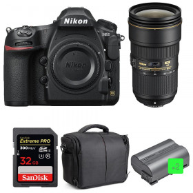 Nikon D850 + 24-70mm f/2.8E ED VR + SanDisk 32GB Extreme PRO UHS-II SDXC 300MB/s + 2 EN-EL15b + Sac