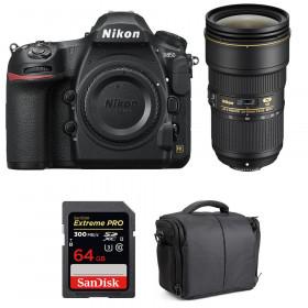 Nikon D850 + 24-70mm f/2.8E ED VR + SanDisk 64GB Extreme PRO UHS-II SDXC 300MB/s + Camera Bag | 2 Years Warranty