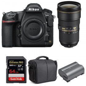 Nikon D850 + 24-70mm f/2.8E ED VR + SanDisk 64GB Extreme PRO UHS-II SDXC 300MB/s + EN-EL15b + Bolsa