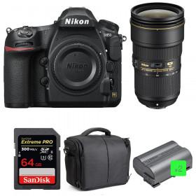 Nikon D850 + 24-70mm f/2.8E ED VR + SanDisk 64GB Extreme PRO UHS-II SDXC 300MB/s + 2 EN-EL15b + Camera Bag | 2 Years Warranty