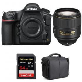 Nikon D850 + 105mm f/1.4E ED + SanDisk 64GB Extreme PRO UHS-II SDXC 300MB/s + Camera Bag | 2 Years Warranty