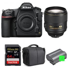 Nikon D850 + 105mm f/1.4E ED + SanDisk 64GB Extreme PRO UHS-II SDXC 300MB/s + 2 EN-EL15b + Camera Bag | 2 Years Warranty