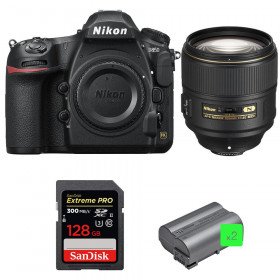 Nikon D850 + 105mm f/1.4E ED + SanDisk 128GB Extreme PRO UHS-II SDXC 300MB/s + 2 EN-EL15b
