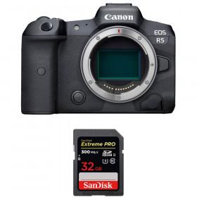 Appareil photo hybride Canon R5 Nu + SanDisk 32GB Extreme PRO UHS-II SDXC 300 MB/s