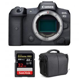 Appareil photo hybride Canon R5 Nu + SanDisk 32GB Extreme PRO UHS-II SDXC 300 MB/s + Sac