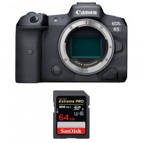 Appareil photo hybride Canon R5 Nu + SanDisk 64GB Extreme PRO UHS-II SDXC 300 MB/s