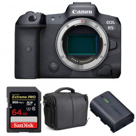 Canon EOS R5 Body + SanDisk 64GB Extreme PRO UHS-II SDXC 300 MB/s + Canon LP-E6NH + Bag   2 Years warranty