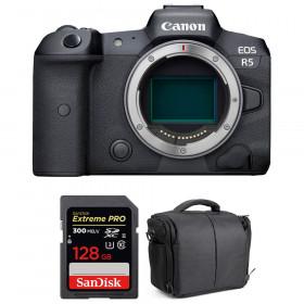 Appareil photo hybride Canon R5 Nu + SanDisk 128GB Extreme PRO UHS-II SDXC 300 MB/s + Sac
