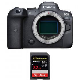 Canon EOS R6 Cuerpo + SanDisk 32GB Extreme PRO UHS-II SDXC 300 MB/s