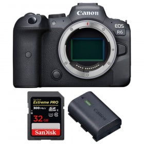 Canon EOS R6 Cuerpo + SanDisk 32GB Extreme PRO UHS-II SDXC 300 MB/s + Canon LP-E6NH