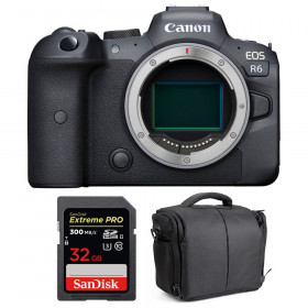 Canon EOS R6 Cuerpo + SanDisk 32GB Extreme PRO UHS-II SDXC 300 MB/s + Bolsa