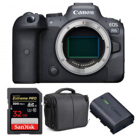 Canon EOS R6 Cuerpo + SanDisk 32GB Extreme PRO UHS-II SDXC 300 MB/s + Canon LP-E6NH + Bolsa