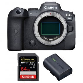 Canon EOS R6 Nu + SanDisk 64GB Extreme PRO UHS-II SDXC 300 MB/s + Canon LP-E6NH