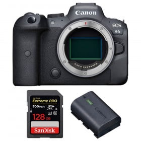 Canon EOS R6 Nu + SanDisk 128GB Extreme PRO UHS-II SDXC 300 MB/s + Canon LP-E6NH