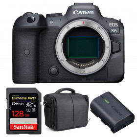 Canon EOS R6 Nu + SanDisk 128GB Extreme PRO UHS-II SDXC 300 MB/s + Canon LP-E6NH + Sac
