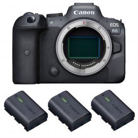 Canon EOS R6 Nu + 3 Canon LP-E6NH