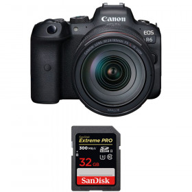 Canon EOS R6 + RF 24-105mm f/4L IS USM + SanDisk 32GB Extreme PRO UHS-II SDXC 300 MB/s