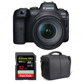 Canon EOS R6 + RF 24-105mm f/4L IS USM + SanDisk 32GB Extreme PRO UHS-II SDXC 300 MB/s + Sac