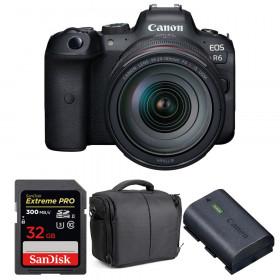 Canon EOS R6 + RF 24-105mm f/4L IS USM + SanDisk 32GB Extreme PRO UHS-II SDXC 300 MB/s + LP-E6NH + Sac