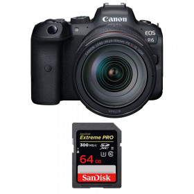 Canon EOS R6 + RF 24-105mm f/4L IS USM + SanDisk 64GB Extreme PRO UHS-II SDXC 300 MB/s