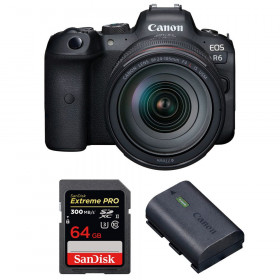 Canon EOS R6 + RF 24-105mm f/4L IS USM + SanDisk 64GB Extreme PRO UHS-II SDXC 300 MB/s + Canon LP-E6NH