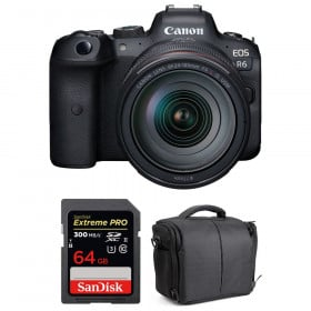 Canon EOS R6 + RF 24-105mm f/4L IS USM + SanDisk 64GB Extreme PRO UHS-II SDXC 300 MB/s + Sac
